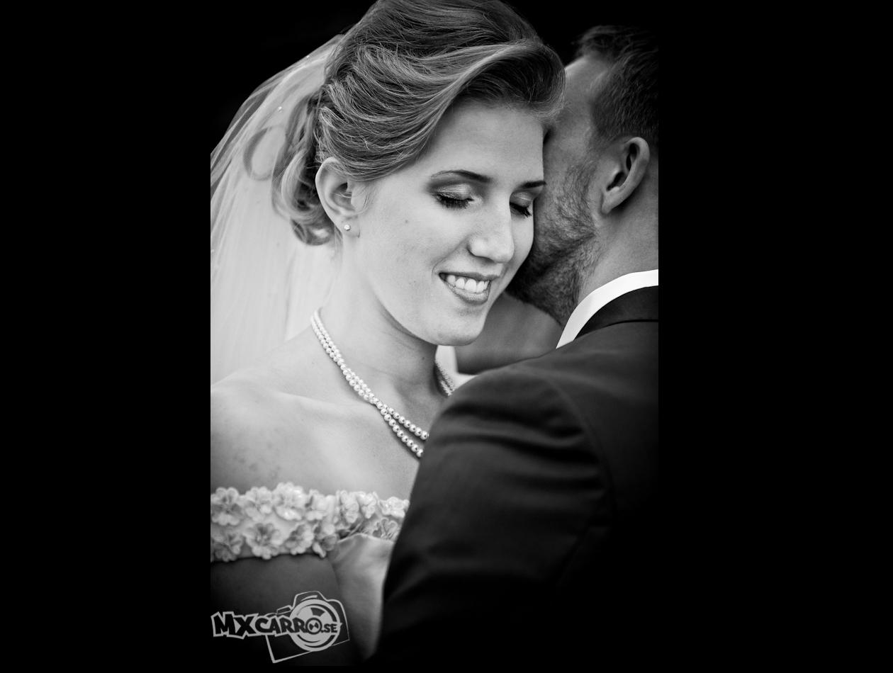 Bröllops foto svartvitt kärlek känsla